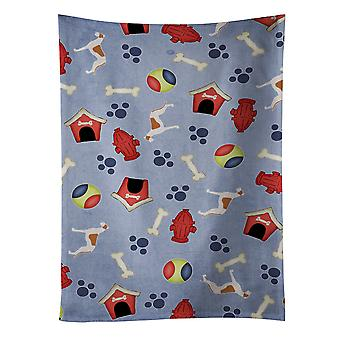 Carolines Treasures  BB3905KTWL Greyhound Dog House Collection Kitchen Towel