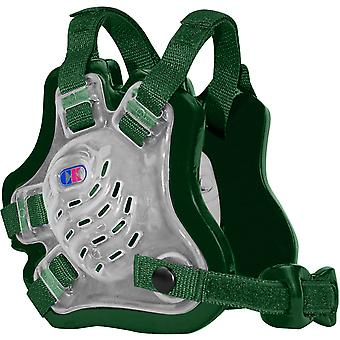 Cliff Keen F5 Tornado Wrestling Headgear - Translucent/Dark Green/Dark Green
