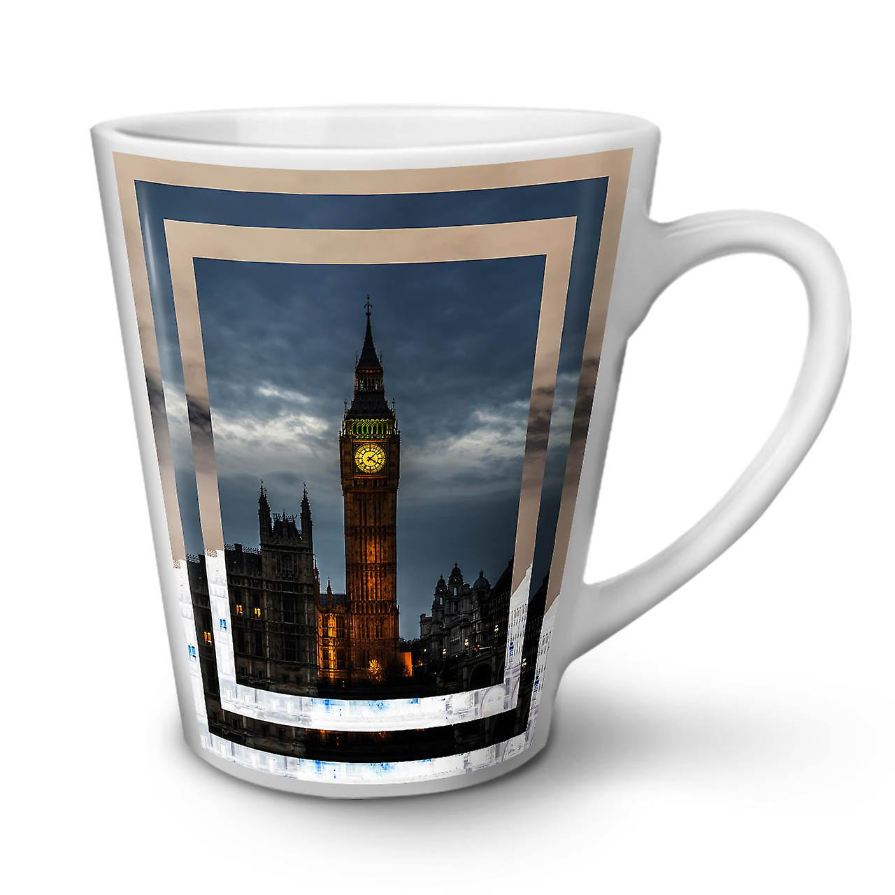 12 Londres Thé Blanc Café Latte Céramique Mug Night OzWellcoda Nouveau En City b6vgmIyY7f