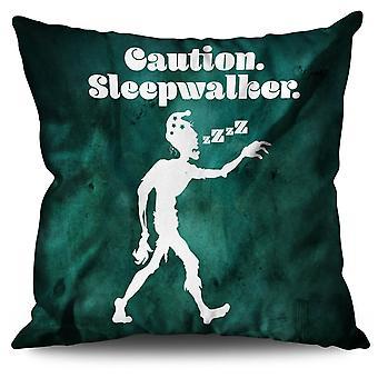 Sleepwalk Funny Zombie Linen Cushion Sleepwalk Funny Zombie | Wellcoda