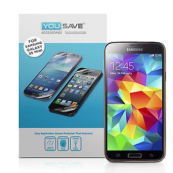 Yousave Samsung Galaxy S5 Mini Screen Protectors - 5 Pack