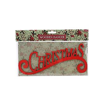 CGB Giftware Christmas Wooden Christmas Hanging Sign