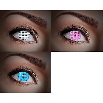 UV contact lens black light neon 80 ies