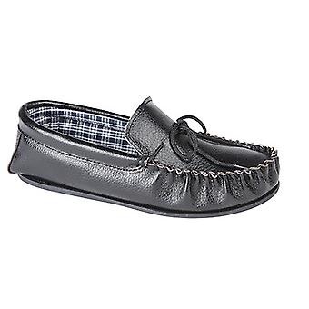 Mokkers Mens Oscar Sofite Leather Moccasin Slippers