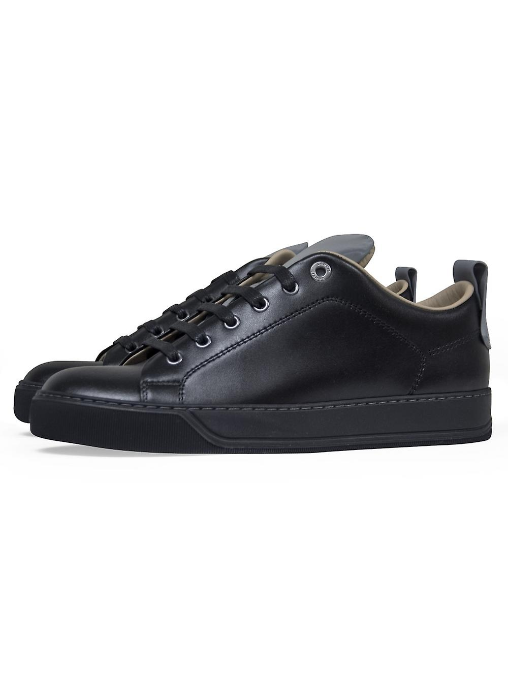 Lanvin Lanvin Leather Sneaker Panel Reflective Lanvin Black 1aFpdqa