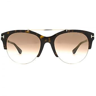 Tom Ford Adrenne Sunglasses In Havana