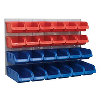 Sealey Tps132 Bin And Panel Combination 24 Bins - Red/Blue