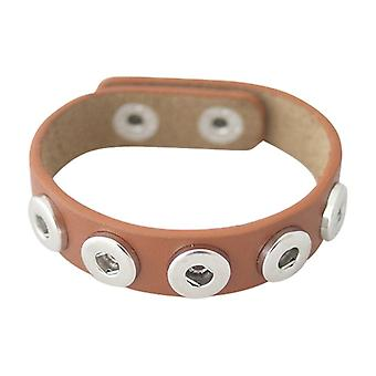 Leather Bracelet For Mini Click Buttons Kb3008-s