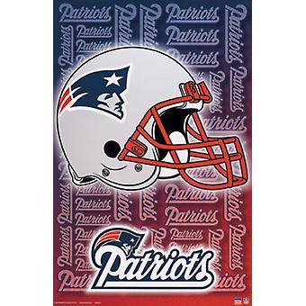 Patriots-Helmet Poster Print