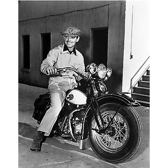 Clark Gable, siedzi na motocyklu Photo Print