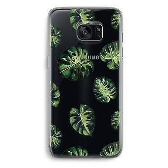 Samsung Galaxy S7 Edge Transparent Case - Tropical leaves
