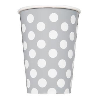 Silver Dot Cups 9�