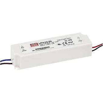 LED transformer Constant voltage Mean Well LPV-35-24 36 W (max)