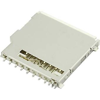 SD Card connector Push, Pull Attend 104C-TAA0-R