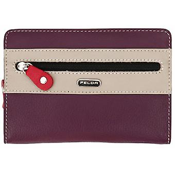 RFID Genuine Leather Slim Ladies Soft Purse Wallet Womens Multi Colour 14 Card