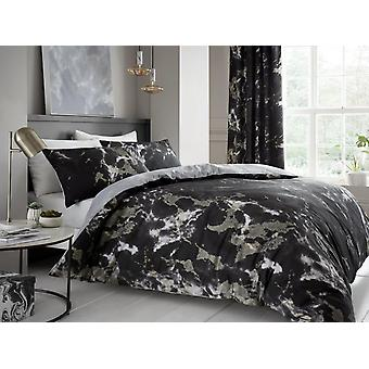 Marble Print Duvet Cover Bedding Set