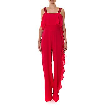 Pinko women 1G132M6415R51 Fuchsia viscous jumpsuit