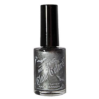 Nail Varnish Manic Panic Claw Vegan Polish Hells Bells - Silver