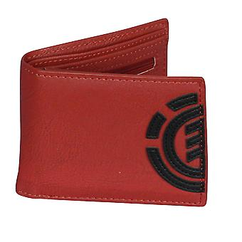 Element Wallet with CC, Note and Coin Pockets ~ Daily red dahlia