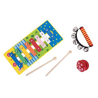 Bigjigs Toys Wooden Kid's Musical Instrument Music Set