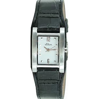 s.Oliver ladies wrist watch analog quartz leather SO-15034-LQR
