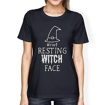 Resting Witch Face Cute Womens Halloween Graphic Short Sleeve Shirt