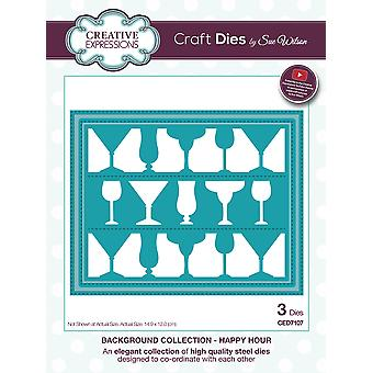 Creative Expressions Craft Dies By Sue Wilson-Happy Hour Background