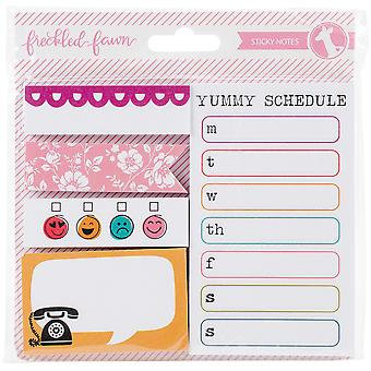 Freckled Fawn Chit Chat Sticky Notes 5/Pkg-Assorted Sizes/Designs, Total 250 Sheets