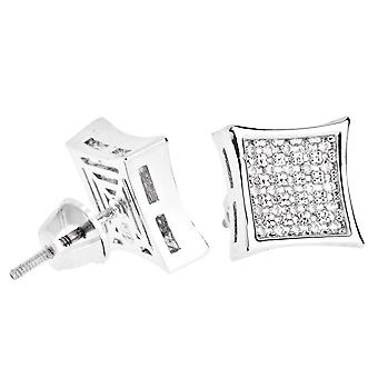 Iced out bling micro pave earrings - K-KITE 10 mm