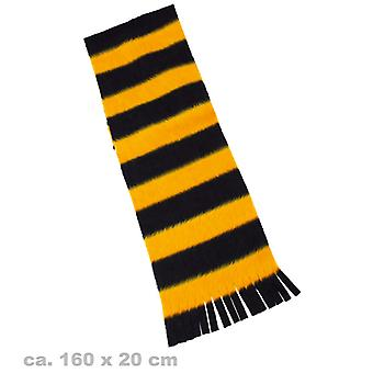Plush scarf bee Bienenschal yellow black scarf