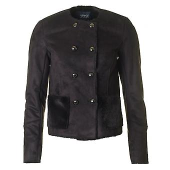 Armani Double Breasted Lammfell Jacke