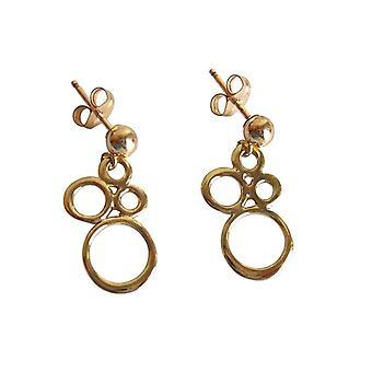 Gemshine - Damen - Ohrringe - Vergoldet - BUBBLES - 2 cm