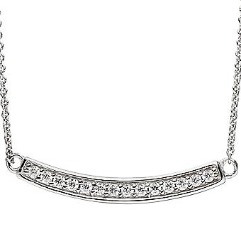 Necklace necklace 925 sterling silver cubic zirconia necklace 45 cm silver chain