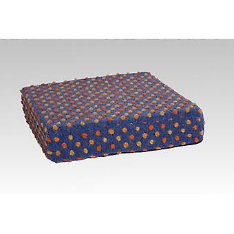 Booster seat cushion stand-up help blue-coloured of 40 x 40 x 10 cm