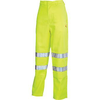 Click Fire Retardant Anti Static Tesla Trousers. Yellow. En471 - Cfrastetsy