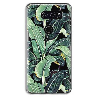 LG V30 Transparent Case (Soft) - Banana leaves