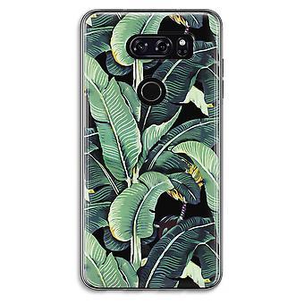 LG V30 Transparent Case - Banana leaves