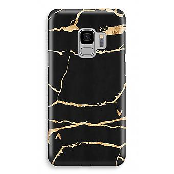 Samsung Galaxy S9 Full Print Case - Gold marble