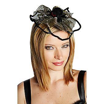 Spider Web with Spider gold headband