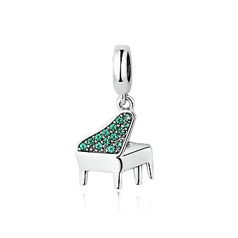Sterling silver pendant charm Piano