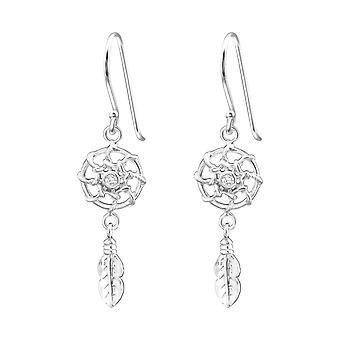 Dreamcatcher - 925 Sterling Silver Cubic Zirconia Earrings - W37200x