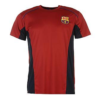 Source Lab Mens Barcelona Polyester T Shirt Lightweight Short Sleeve Crew Tee