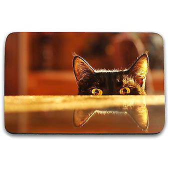 i-Tronixs - Cat Printed Design Non-Slip Rectangular Mouse Mat for Office / Home / Gaming - 13