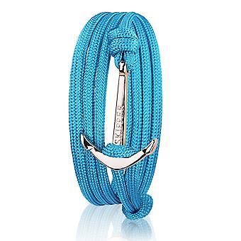 Patron d'ancrage bracelet bracelet en nylon en turquoise avec ancre d'or 7729