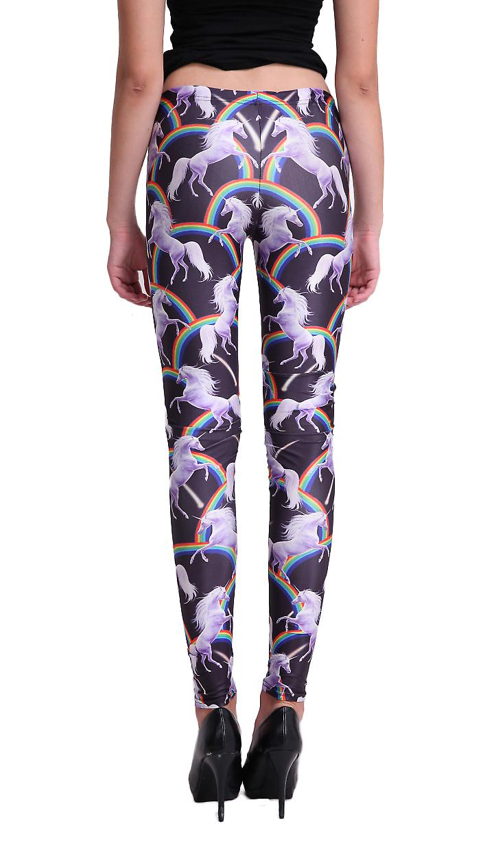Waooh - Fashion - Leggins Muster Unicorn und Rainbow