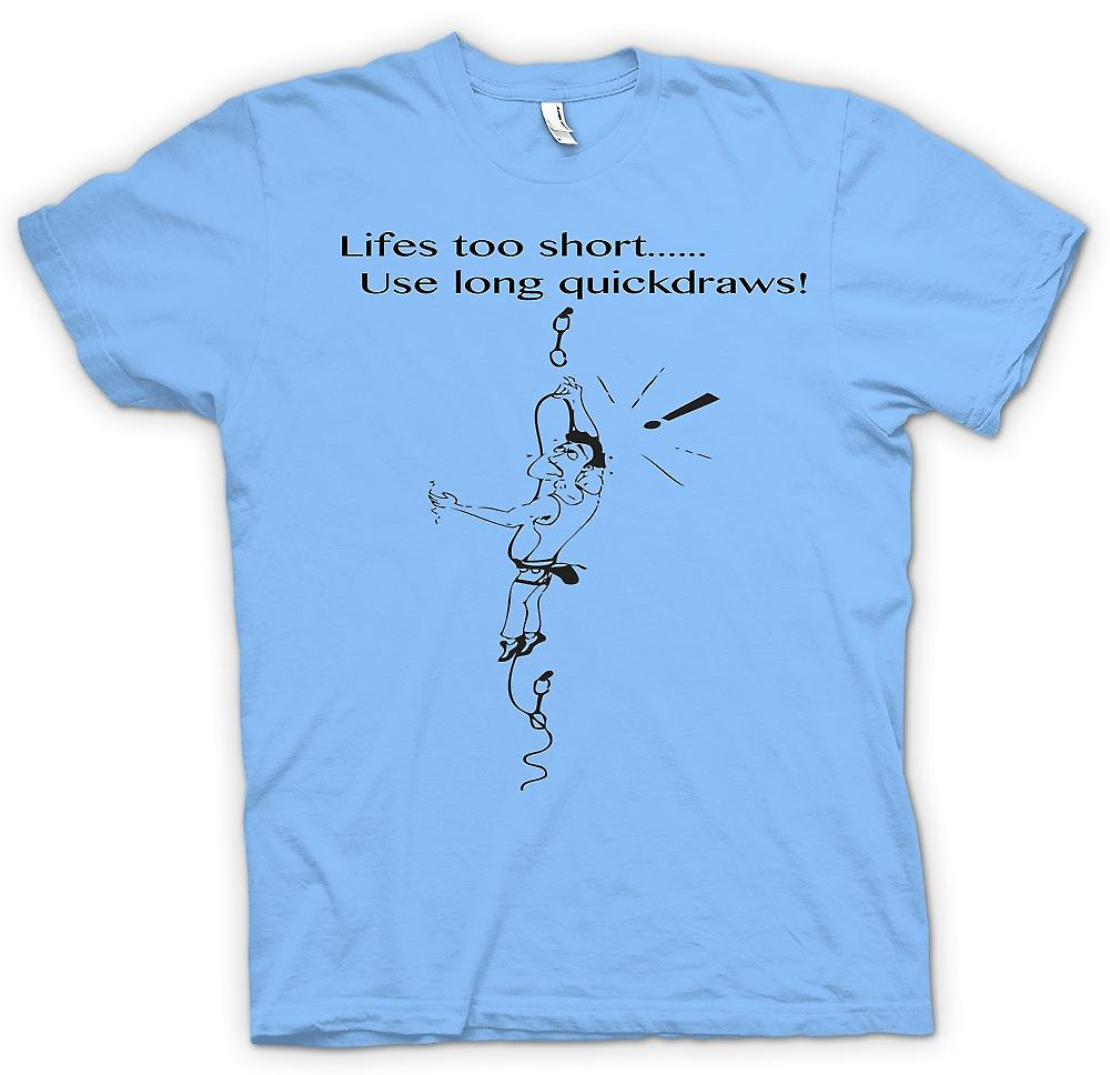 Heren T-shirt-leven te kort - Climbing Quickdraws