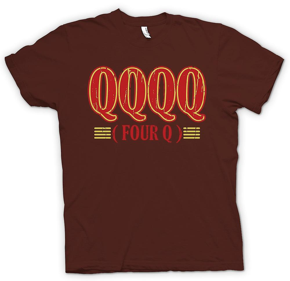 Heren T-shirt - QQQQ vier Q - grappige ruwe