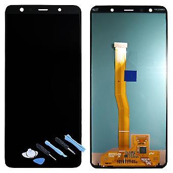 Samsung skærm LCD komplet enhed for Galaxy A7 A750F 2018 GH96 12078A sort