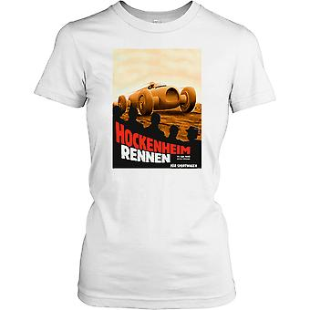 Hockenheim Rennen 1932 - Retro Motor Racing Ladies T Shirt
