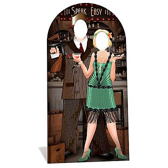 Roaring 1920s Speakeasy Stand-in Lifesize Cardboard Cutout / Standee - Gangsters and Molls